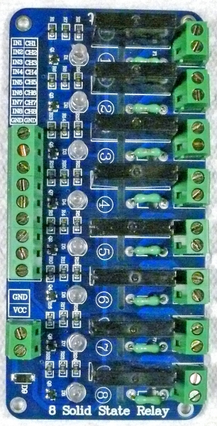 8channel 2 AMP Solid State Relay Board - Solid State Relay Ir